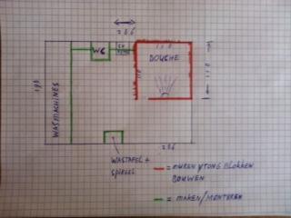 Mooie badkamer maken op zolder in kleine ruimte incl for Badkamer tekening maken
