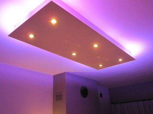 verlaagd plafond met inbouw led verlichting en ledstrip - Werkspot