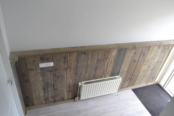 Ongebruikt Aanbrengen ca 18m lambrisering van steigerhout - Werkspot PA-92