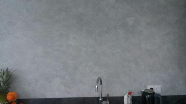 Betonlook terra stone verven van een keuken werkspot for Betonlook verf