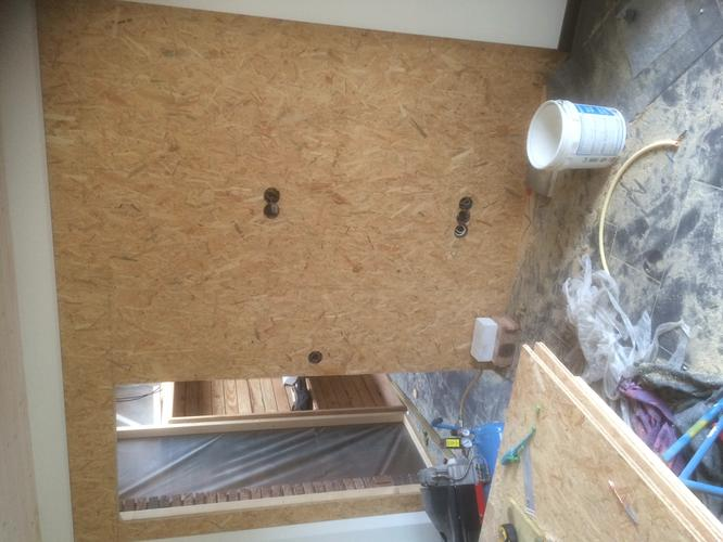 Osb platen behangen woonunit werkspot for Gipsplaten behangen met vliesbehang
