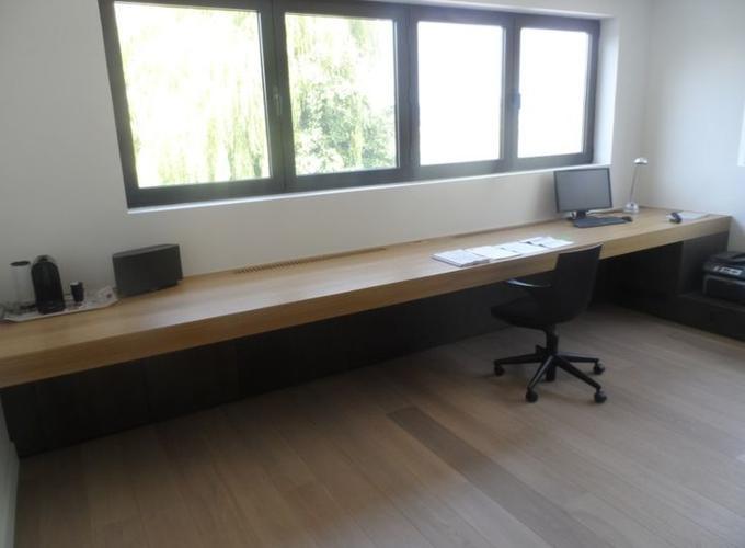 Zwevend bureau maken werkspot