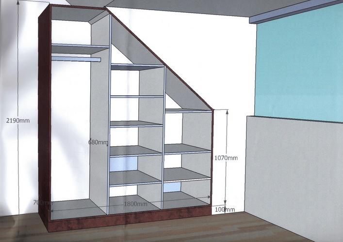Kast onder schuin dak maken werkspot - Planken maken in een kast ...