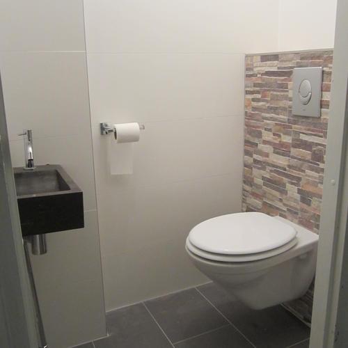 Complete badkamer toilet werkspot - Wc bruin ...