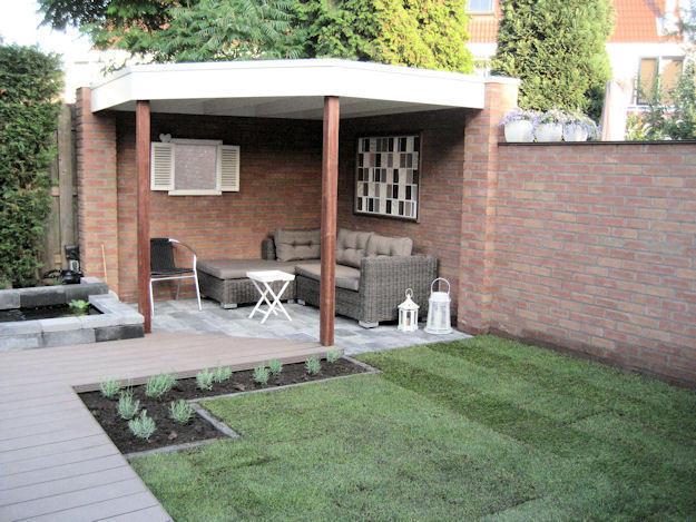 Overdekte Zithoek Tuin : Overdekte zithoek in tuin werkspot