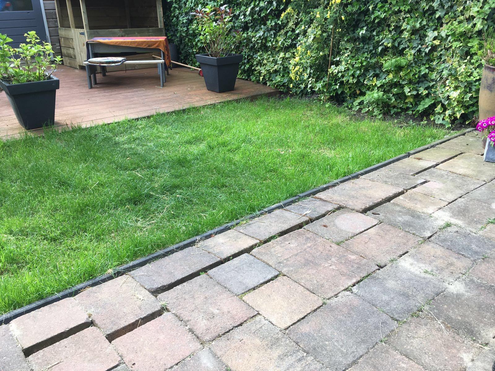 Tuin bestraten en gras weghalen ophogen werkspot
