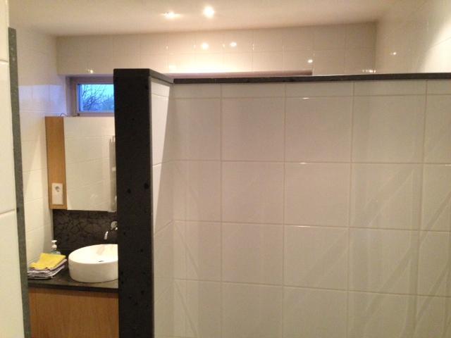 Ligbad plaatsen in inloop douche werkspot