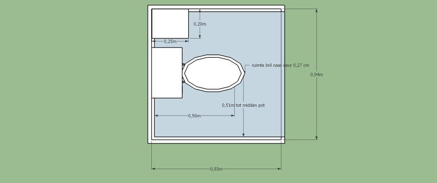 Afmeting Hangend Toilet.Verbouwing Klein Toilet Vervanging Staande Pot Voor Hangend Toilet