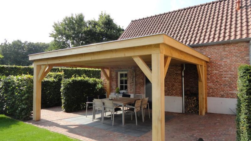 Overkapping van duurzame hout 6 00 x 4 10 meter werkspot for Foto op hout maken eigen huis en tuin