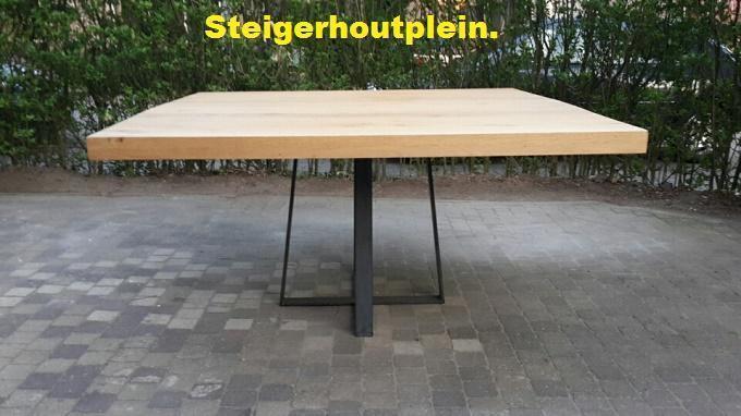 Metalen Onderstel Tafel : Metalen onderstel ronde houten tafel verstevigen waardoor tafel