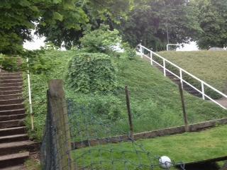 Afrit aanleggen en trap verplaaten van de dijk tuin rol for Trap tuin aanleggen