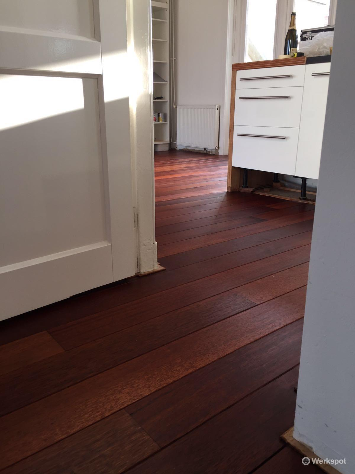 schuren en olià n merbau houten vloerdelen werkspot