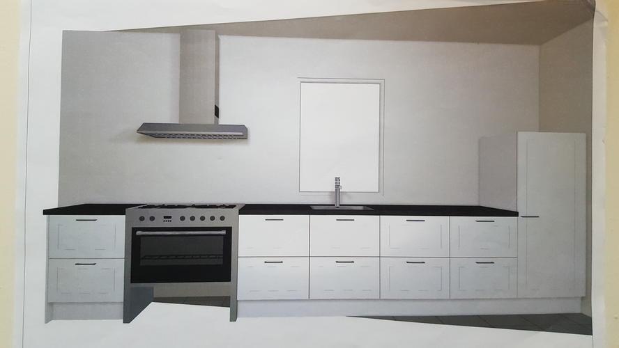 Extreem Plaatsen rechte keuken 4,60m zonder bovenkastjes - Werkspot #OO73