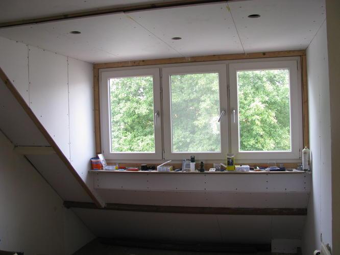 Wanden en plafonds gipsplaten zolderkamer glad afwerken for Wanden nieuwbouwwoning afwerken