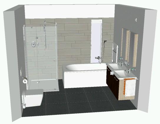 technische tekening badkamer maken - werkspot, Badkamer