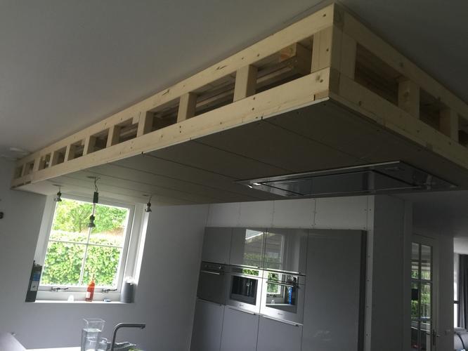Populair Stucwerk verlaagd plafond en standbouw keuken - Werkspot &QR47