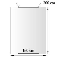 Kakemono format 150x200 cm