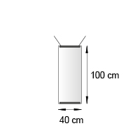Kakemono format 40x100 cm