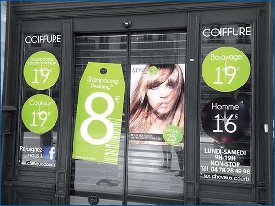 Adh sif pour vitrine et autocollant 123adhesifs for Devanture salon de coiffure