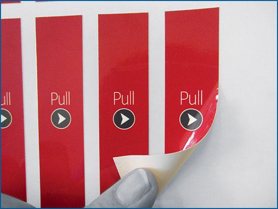 étiquettes de packaging support carton