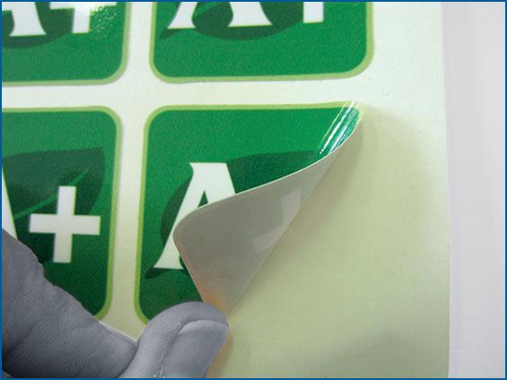 etichetta per packaging verde