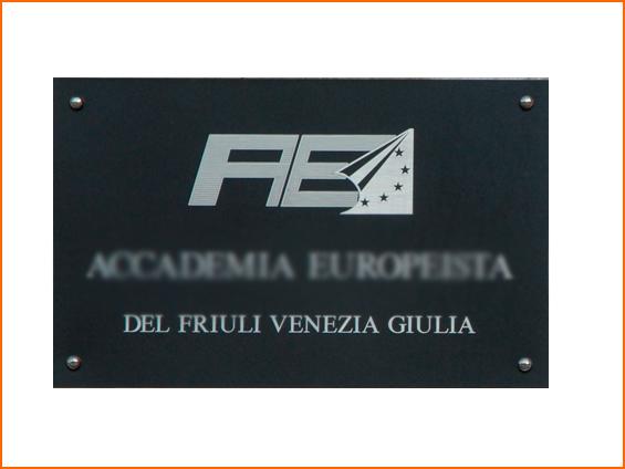 targa da strada con logo azienda