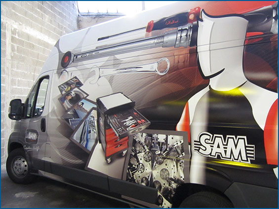 wrapping di camion