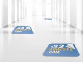 Adesivi per pavimenti per indirizzare il cliente