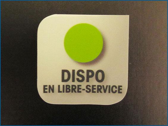 sticker libero servizio