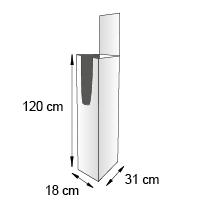 Porte catalogue de sol format 31x18x120 cm