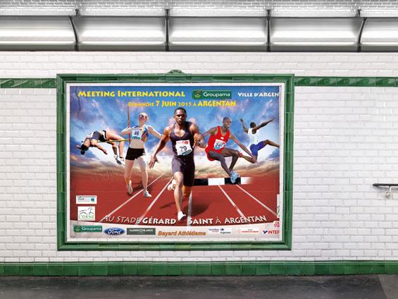 Affichage couloir de métro
