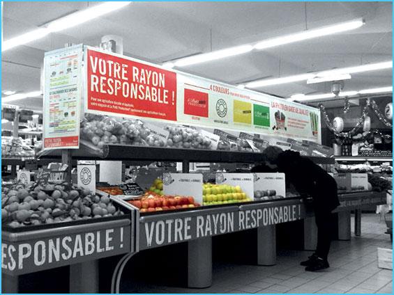 bâches et banderoles intérieures pour décoration de magasin