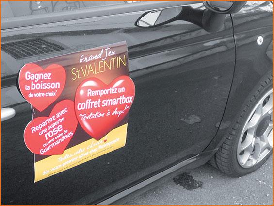 panneau magnétique publicitaire de voiture
