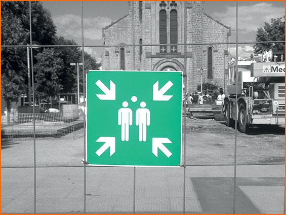 signalisation Point de rassemblement