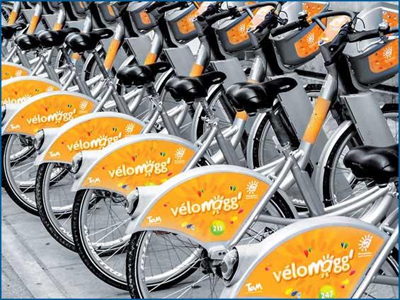 adhésif de vélo de ville'