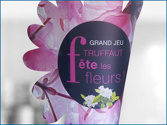 vetrofania fiore per negozio