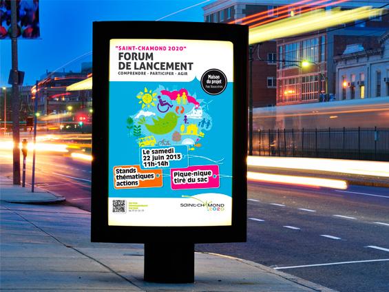 affiche 120x160 station de bus
