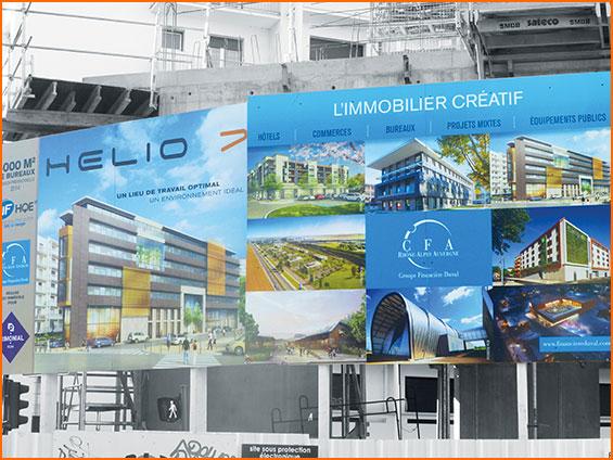 panneau immobilier de construction de lotissement