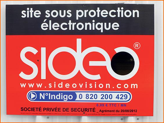 marquage information de site sous protection electronique