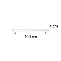 Bande de rive format 100x4 cm