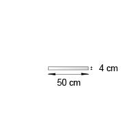 Bande de rive format 50x4 cm