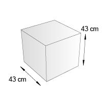 Cube de sol format 43 cm