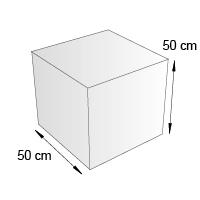 Cube de sol format 50 cm