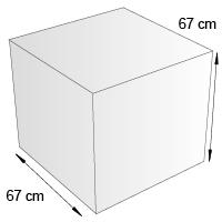 Cube de sol format 67 cm