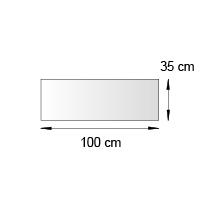 Fronton de lineaire format 100x35 cm