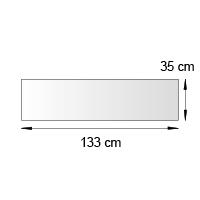 Fronton de lineaire format 133x35 cm
