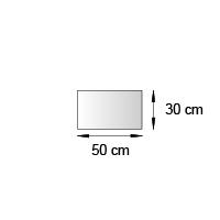 Fronton de lineaire format 50x30 cm