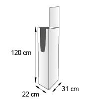 Porte catalogue de sol format 31x22x120 cm