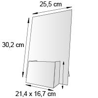 Porte leaflet de comptoir format 10x6 cm