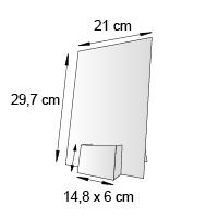 Porte leaflet de comptoir format 14x6 cm